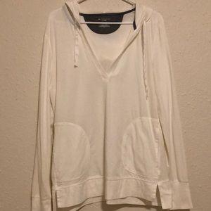 White long sleeve hooded sweater